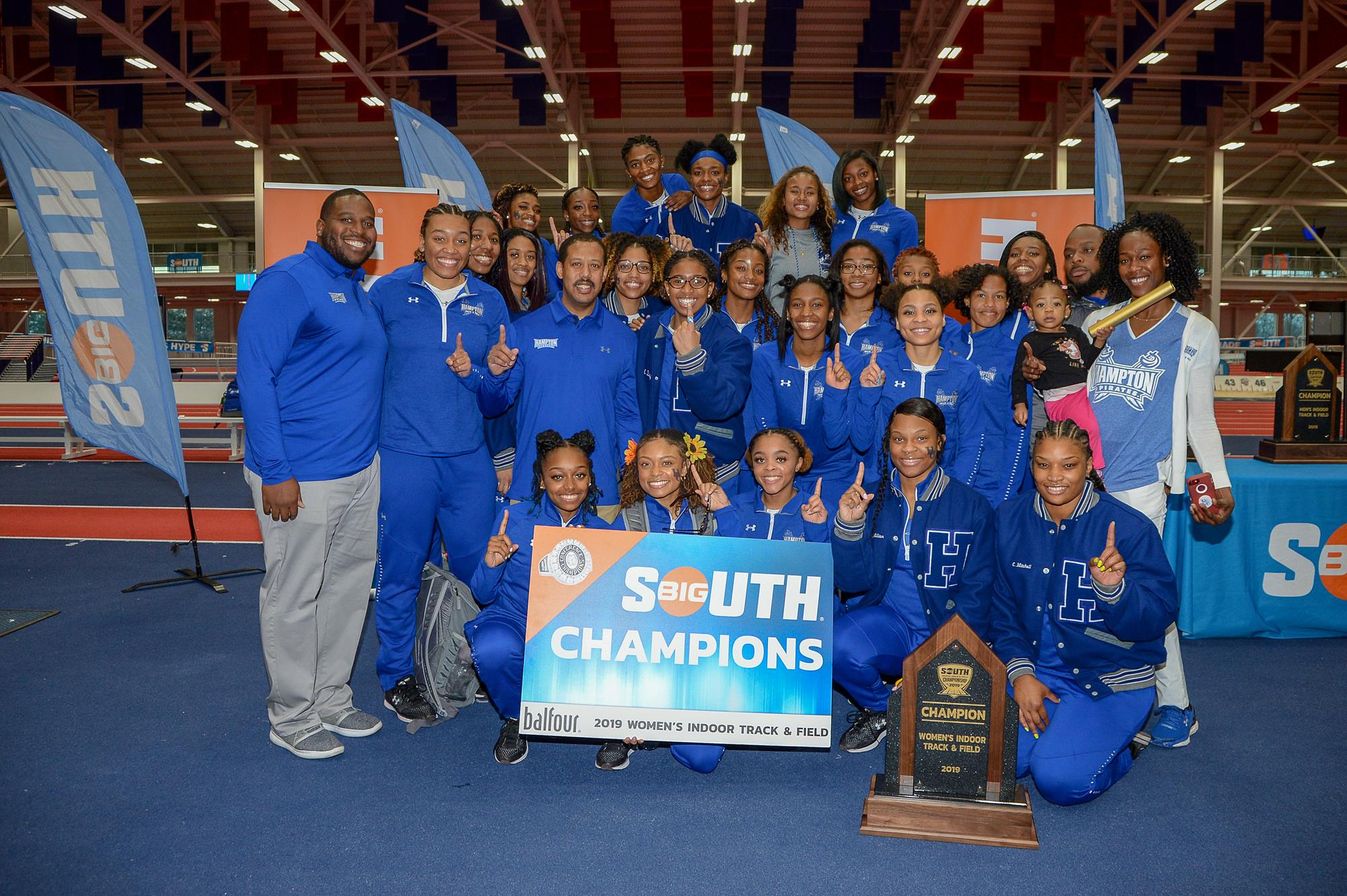 Lady Pirates Take Big South Indoor Crown Hampton University Athletics